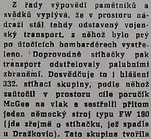 Z. Bičík útok 1st Lt. McGee 24. srpna 1944