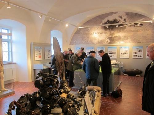 Expozice letecké bitvy nad Jindřichohradeckem